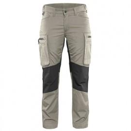 Pantalon service stretch femme - 2799 Beige/Noir - Blaklader