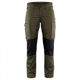 Pantalon service stretch femme - 4599 Vert Olive/Noir - Blaklader