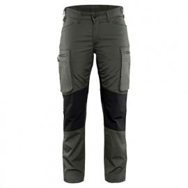 Pantalon service stretch femme - 4699 Vert armée/Noir - Blaklader
