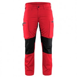 Pantalon service stretch femme - 5699 Rouge/Noir - Blaklader