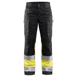 Pantalon haute-visibilité stretch femme - 8933 Marine/Jaune fluo - Blaklader