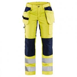 Pantalon haute-visibilité stretch femme - 3389 Jaune fluo/Marine - Blaklader