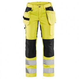 Pantalon haute-visibilité stretch femme - 3399 Jaune fluo/Noir - Blaklader