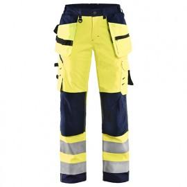 Pantalon softshell haute-visibilité femme - 3389 Jaune fluo/Marine - Blaklader