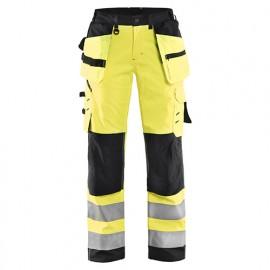 Pantalon softshell haute-visibilité femme - 3399 Jaune fluo/Noir - Blaklader