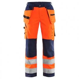 Pantalon softshell haute-visibilité femme - 5389 Orange fluo/Marine - Blaklader