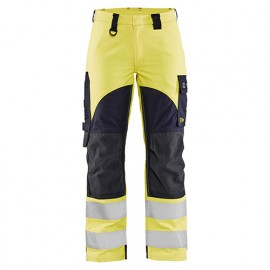 Pantalon multinormes inhérent femme - 3389 Jaune fluo/Marine - Blaklader