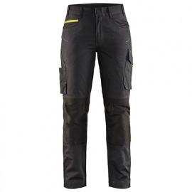 Pantalon service stretch femme - 9933 Noir/Jaune fluo - Blaklader