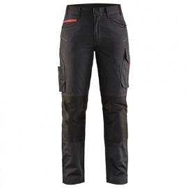 Pantalon service stretch femme - 9956 Noir/Rouge - Blaklader