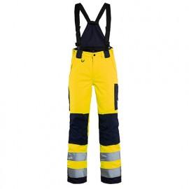 Pantalon hiver à bretelles haute-visibilité femme - 3389 Jaune fluo/Marine - Blaklader