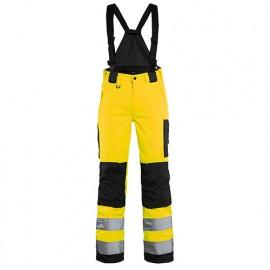 Pantalon hiver à bretelles haute-visibilité femme - 3399 Jaune fluo/Noir - Blaklader