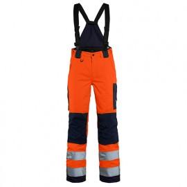 Pantalon hiver à bretelles haute-visibilité femme - 5389 Orange fluo/Marine - Blaklader