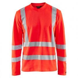 T-shirt manches longues anti-UV haute-visibilité - 5500 Rouge fluo - Blaklader
