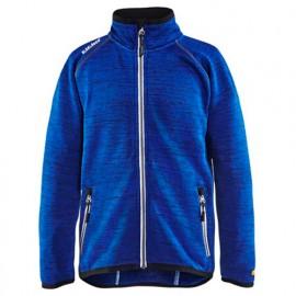 Veste tricotée enfant - 8510 Bleu roi/blanc - Blaklader