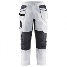 LMA 100144 PINCEAU Pantalon de peintre Braguette /à Boutons Blanc Taille 48