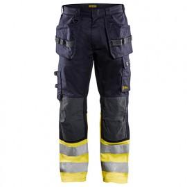 Pantalon multinormes inhérent - 8933 Marine/Jaune fluo 14891512 - Blaklader