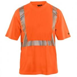 T-shirt anti-UV Haute-Visibilité - 5300 Orange fluo 33861013 - Blaklader