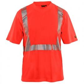 T-shirt anti-UV Haute-Visibilité - 5500 Rouge fluo 33861013 - Blaklader