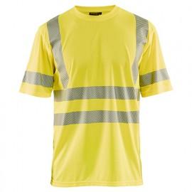 T-shirt anti-UV haute-visibilité - 3300 Jaune fluo 34201013 - Blaklader