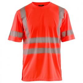 T-shirt anti-UV haute-visibilité - 5500 Rouge fluo 34201013 - Blaklader