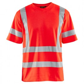 T-shirt anti-UV haute-visibilité - 5500 Rouge fluo 89471070 - Blaklader