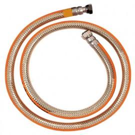 Tuyau de gaz Butane et Propane NF à visser en inox 1,50 m - Sans date limite d'utilisation - TUY4010 - Ribiland