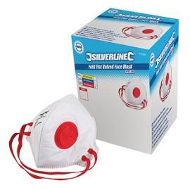 Boîte de 25 masques respiratoires pliables à valve FFP3 NR - 633895 - Silverline
