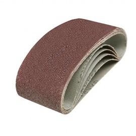 5 bandes abrasives corindon 60 x 400 mm Grain 80 - 635329 - Silverline