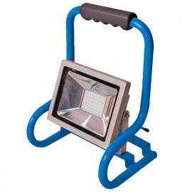Projecteur de chantier LED mobile filaire 20W 230V - 1500 Lm. 6500K. IP65 - 599073 - Fox Light