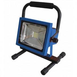 Projecteur de chantier PRO 20W sur batterie 7,4V 10400mA - 1600 Lm. 6000K. IP54 - 599929 - Fox Light
