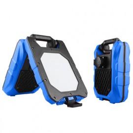 Double projecteur de chantier PRO filaire 2x20W 230V - 4000K - 3000Lm. et prise VDE maxi 3000W - 3041 - Fox Light