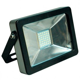 Projecteur plat SMD LED 30W - 2400 Lm. 6500K. IP65. Coloris NOIR - 599028 - Fox Light