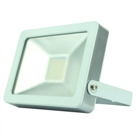 Projecteur plat SMD LED 30W - 2400 Lm. 6500K. IP65. Coloris BLANC - 599301 - Fox Light