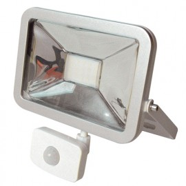 Projecteur plat SMD iSPOT LED à détection Infra-rouge 20W - 1400 Lm. 4000K. IP65. Coloris BLANC - 599974 - Fox Light