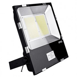 Projecteur LED plat symétrique PRO 100W 230V Driver Meanwell - 16 000Lm. 4000K IP65. Coloris Noir - 3003 - Fox Light