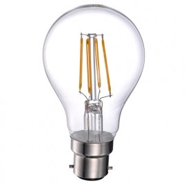 Ampoule LED-S19 Filament A60 B22 6,5W 230V 360° - 60W 2700K 800Lm - 2024 - Fox Light