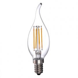 Ampoule Filament Flamme transparente LED-S19 CA37 E14 5W 230V - 40W 2700K 400Lm - 2022 - Fox Light