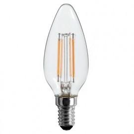Ampoule LED-S19 Filament Flamme C37 E14 4W 230V 360° - 40W 3000K 470Lm - 600366 - Fox Light