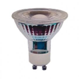 Ampoule LED COB Réflecteur GU10 Full Glass 5W 30° - 42W 3000K 400Lm - 2000 - Fox Light