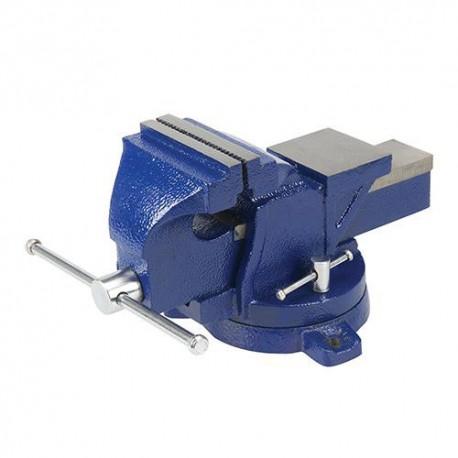 Étau d'ingénieur à base pivotante, serrage max 150 mm , 16 kg - 656618 - Silverline