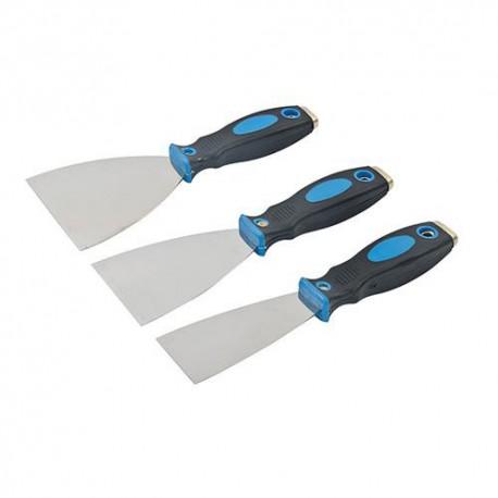 3 couteaux à enduire 50, 75 et 100 mm - 661661 - Silverline
