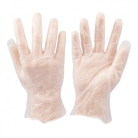 100 gants vinyle jetables Large - 675052 - Silverline