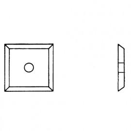 Plaquette 12 x 12 x 1,5mm - 4 coupes. pour mèche à rainer à 2 s réversibles - 0012.1215.00 - Leman