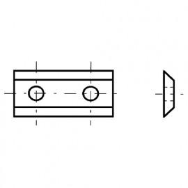 Plaquette 30 x 12 x 1,5mm. pour mèche de défonceuse à s réversibles D. 30 - 0030.1215.00 - Leman
