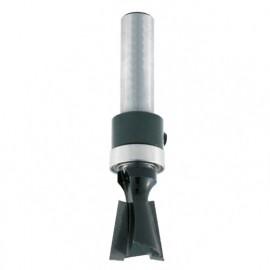 Mèche d'assemblage à queue d'aronde HM + guide supérieur D. 12,7 mm L.U. 12,7 mm Angle 8° Q. 8 mm - 4368.713.00 - Leman