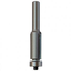 Mèche d'affleureuse droite HM micrograin + guide D. 9,5 mm L.U. 25,4 mm L.T. 69 mm Q. 6 mm - 5676.709.00 - Leman