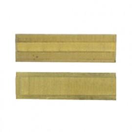 Plaquette 20 x 5,5 x 1,1mm (4 coupes). réversible crochet au titane D. 8 à 12 mm - 800.205.51TIN - Leman