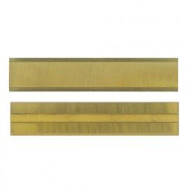 Plaquette 50 x 10 x 1,5mm (4 coupes). réversible crochet au titane D. 14 à 22 mm - 800.510.01 - Leman