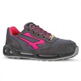 Chaussures de sécurité basses - Femme - VEROK CARPET S1P SRC - Gris - Rose - RED CARPET RC20216 - U-Power