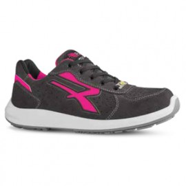 Chaussures de sécurité basses - Femme - ELECTRA S1P SRC ESD - Gris - Rose - RED UP RU20156 - U-Power